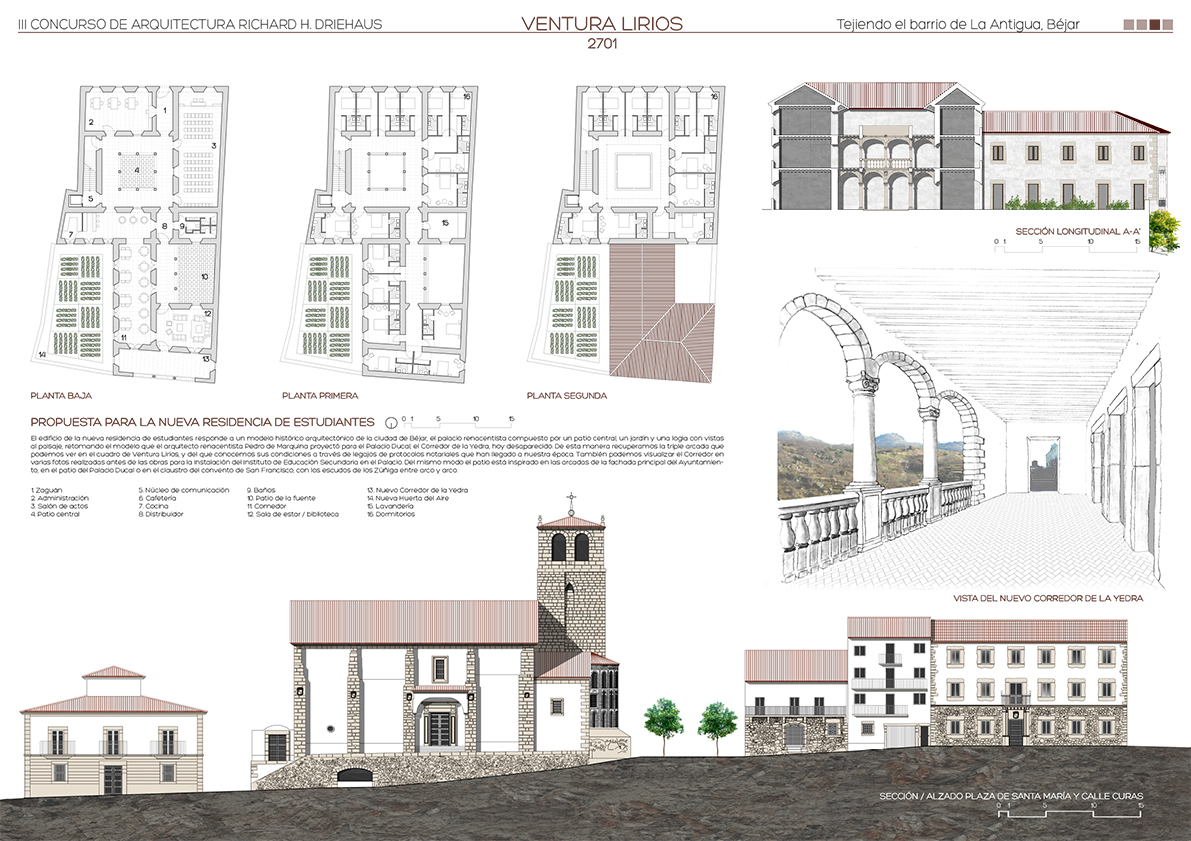 Dormitorios I.Selected Proposals Richard H Driehaus Architecture Competition
