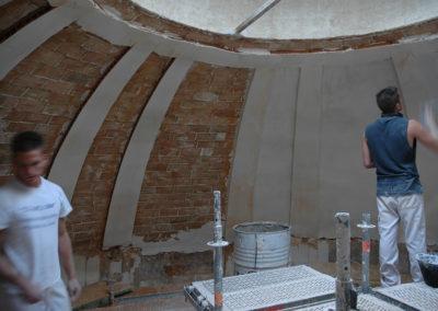 Construcción y revestimiento de la cúpula de San Juan de la Penitencia, Alcala de Henares, Madrid