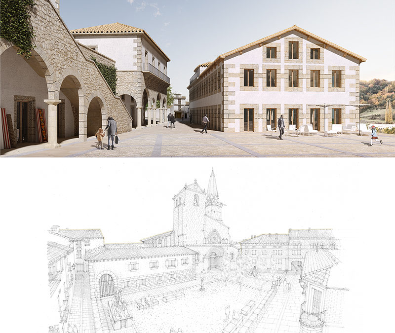 The selected design proposals for Béjar and Olite