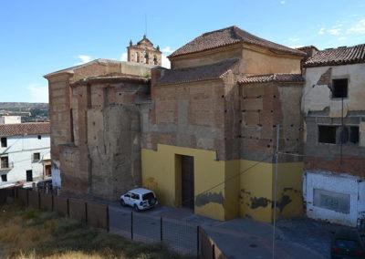 G3.7 Callejón y solar entre iglesia y seminario y solar manzana en ruinas (vista desde el oeste)
